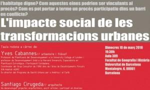 El impacto social de las transformaciones urbanas