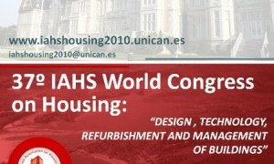 XXXVII IAHS World Congress on Housing Science