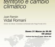 Derecho a la ciudad: agresiones al territorio y cambio climático