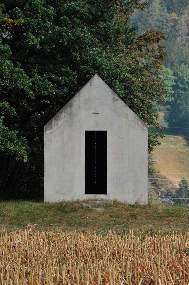 Capilla en Oberrealta, Suiza, Christian Kerez