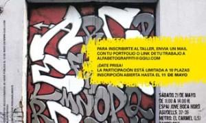Taller Alfabeto graffiti: pintada colectiva de alfabetos con Claudia Walde (Mad C)