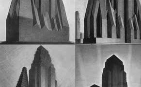 Hugh Ferriss y Norteamérica: La Retórica Dramática de la Gran Escala