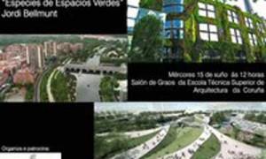 """Conferencia de Jordi Bellmunt, """"Especies de espacios verdes"""""""