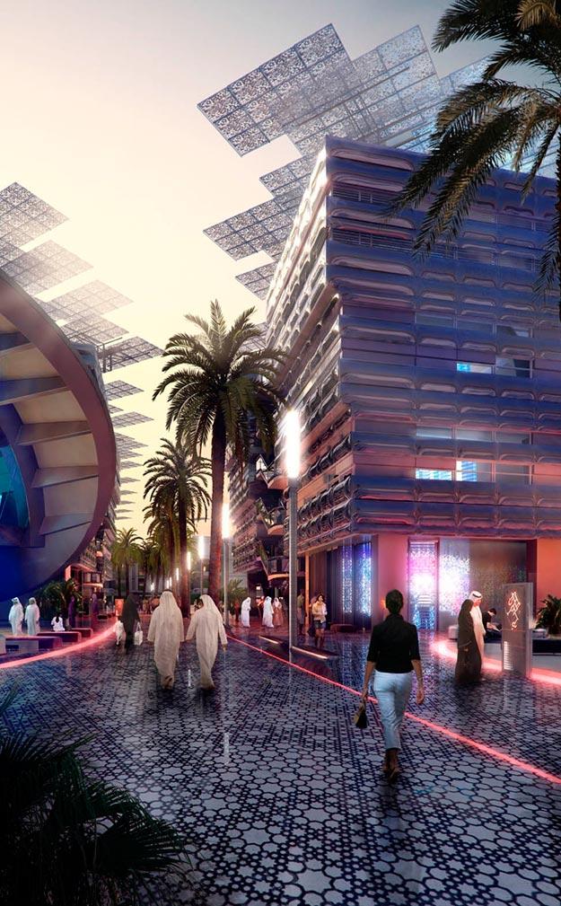 Masdar, diseñada por Foster y Partners. Instituto Árabe