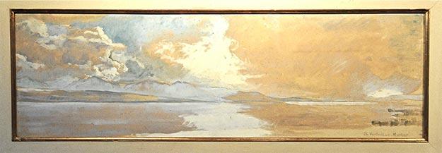 El Lago de Ginebra, pintado a fines de los años veinte, que miro diariamente en la sala de mi casa   oscartenreiro.com