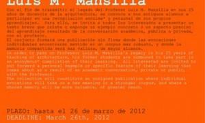 Lo que aprendí del profesor Luis Moreno Mansilla