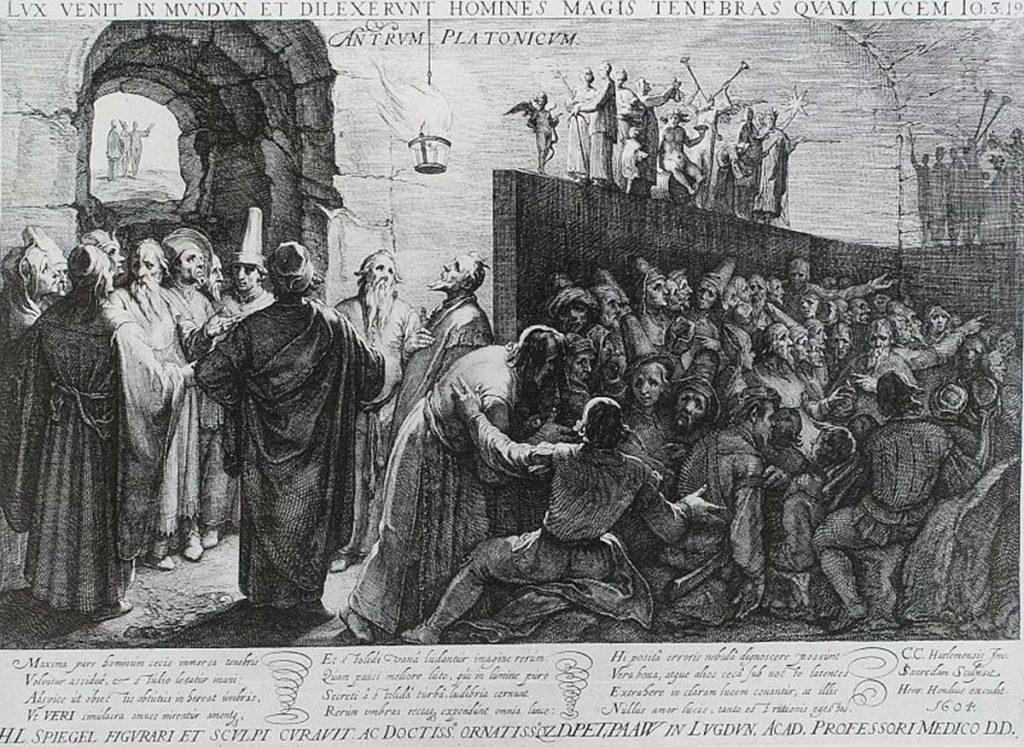 Alegoría de la caverna, de Platón, grabado de Jan Saenreda (1604) | Fuente/fotógrafo: British Museum
