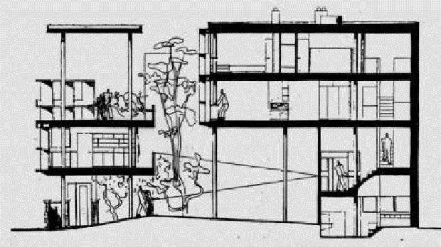 Le corbusier el arbol y el bosque marcelo gardinetti for Plans de maison d habitation