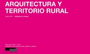 Arquitectura e territorio rural 2013