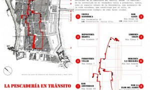 World day of the architecture 2013 · The Pescadería in traffic (A Coruña)