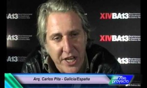Arq. Carlos Pita in the XIVBA13 - From Galicia to Buenos Aires in a renewed historical axis