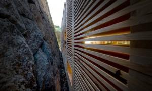 Instalación efémera para Área de compostaxe Campus da Zapateira | trespes.arquitectos