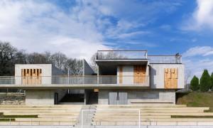 Vestiarios e campo de fútbol en Vilalba | Ameneiros Rey · HH arquitectos-Jacobo Fernández-Blanca Carballal
