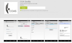 App of the COA of Seville to accede to the services of visa