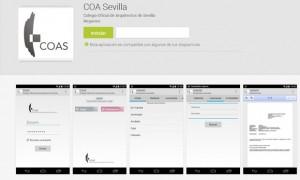 App del COA de Sevilla para acceder a los servicios de visado