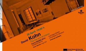 David Kohn in Ciclo Foros ESARQ-UIC