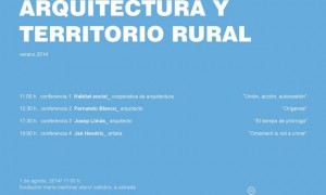 Arquitectura e territorio rural 2014