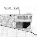 Alzado sur, sin la ampliación en cubierta (se observa cómo no existía el pilar exento)