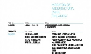 Remotos. Marathon of Architecture Chile - Finland
