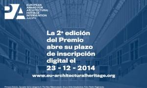 2º Premio Europeo de Intervención en el Patrimonio Arquitectónico AADIPA