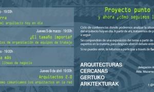 """Ciclo arquitecturas cercanas 2015: """"Proyecto punto y aparte. Y ahora, ¿Cómo seguimos la historia?"""""""