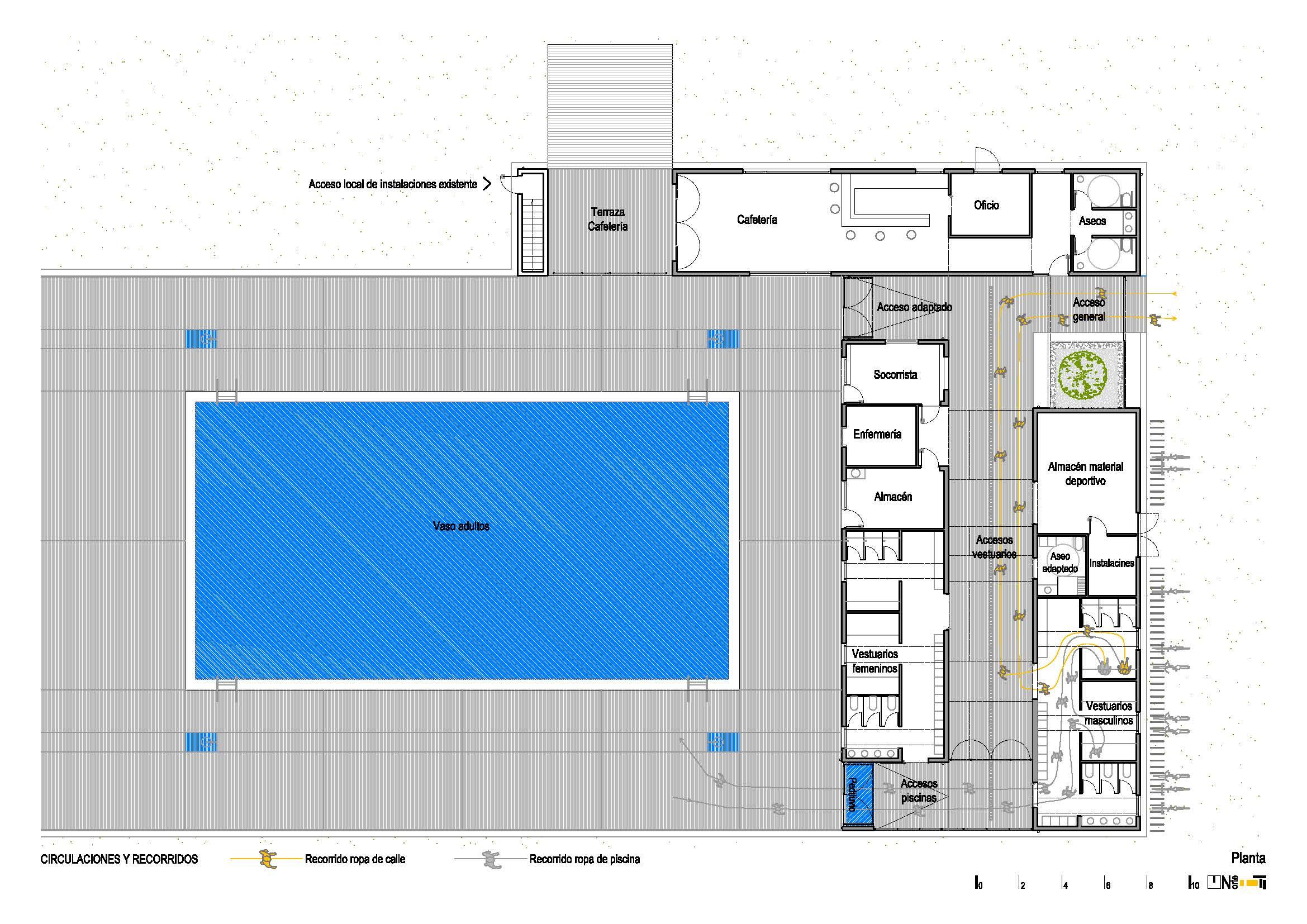 Reforma de vestuarios y piscina municipal en maceda for Planos de piscinas semiolimpicas