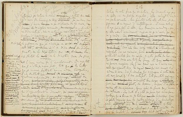 Manuscrito de Marcel Proust (Biblioteca Nacional de Francia)