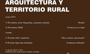 Arquitectura e territorio rural 2015