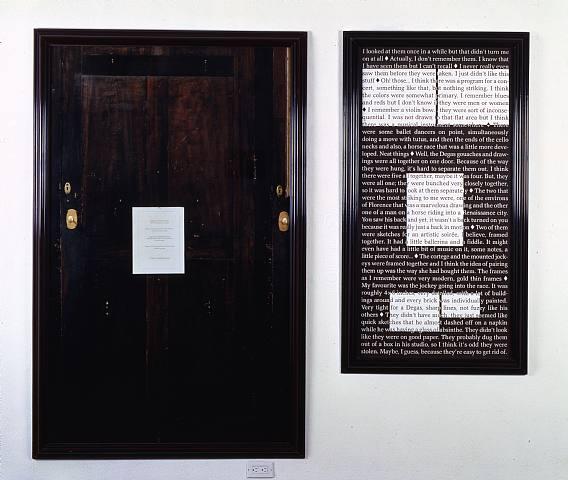 Sophie Calle, La Ausencia, 1991. Los cinco dibujos robados de Degas