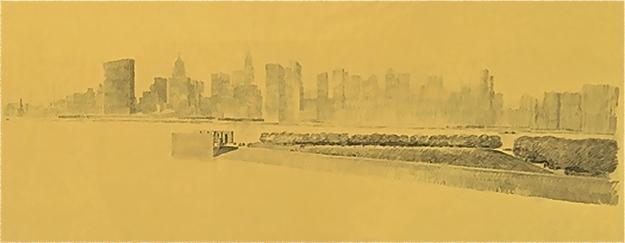 Memorial a Franklin Delano Roosevelt (el Four Freedoms Park) en la isla Roosevelt del East River en Nueva York