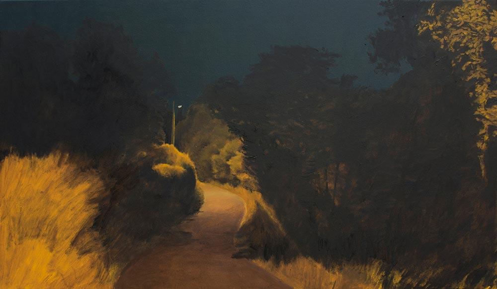 Camino, 2015, óleo/lienzo, 35 x 60 cm.