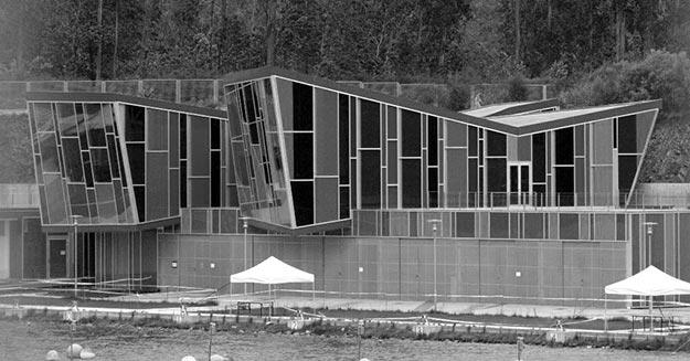 Centro Deportivo do Pontillón do Castro en Pontevedra, Galicia, España