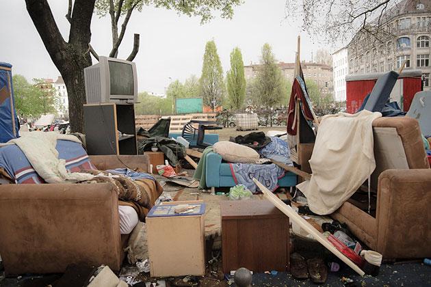 Eviction Refugees Camp Berlin | Montecruz Foto