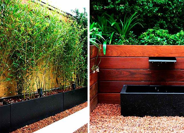 Plantación y detalle de fuente de jardín diseñado por La Habitación Verde para un jardín en La Moraleja | Fotografía: La Habitación Verde