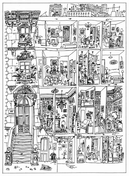 The Art of Living, Saul Steinberg, 1949