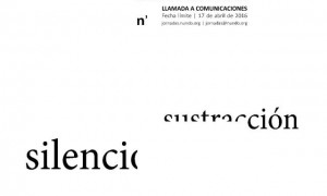 Emptiness, subtraction and silence. n'UNDO Conferences. Call for participants