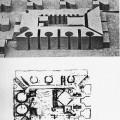 Instituto de Xerencia de Ahmedabad, India, Luis Kahn, esquemas preliminares e maqueta