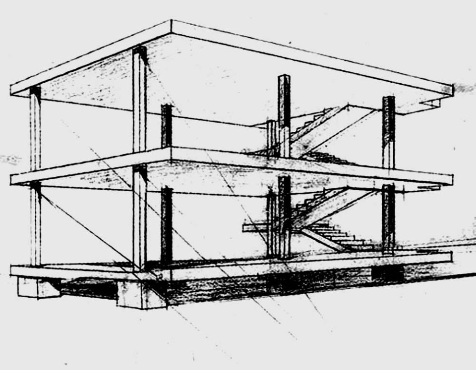 Estructura Dom-ino. Paris, Francia. 1914 (Le Corbusier. Max Dubois)