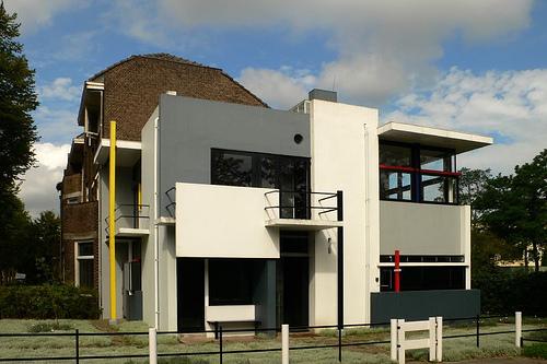 Gerrit Rietveld. Casa Schröeder en Utrecht, Países Bajos, 1924   Fotografía: Dave Mendelsohn
