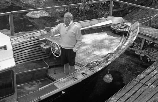 """Alvar Aalto bautizó a su barco (no sin cierta ironía) """"Nadie es profeta en su tierra""""."""