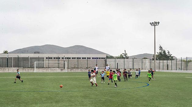 Parque Zonal Flor de Amancaes. Campo de Fútbol | Foto: Eleazar Cuadros