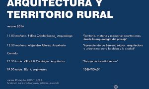 Architecture and rural territoryArchitecture and rural territory 2016