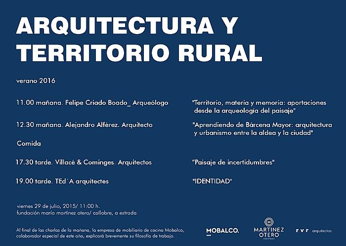 Arquitectura y territorio rural 2016