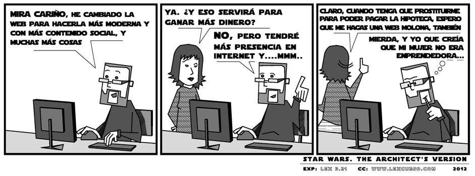 SW Architect's version Cambios de web lexcursó