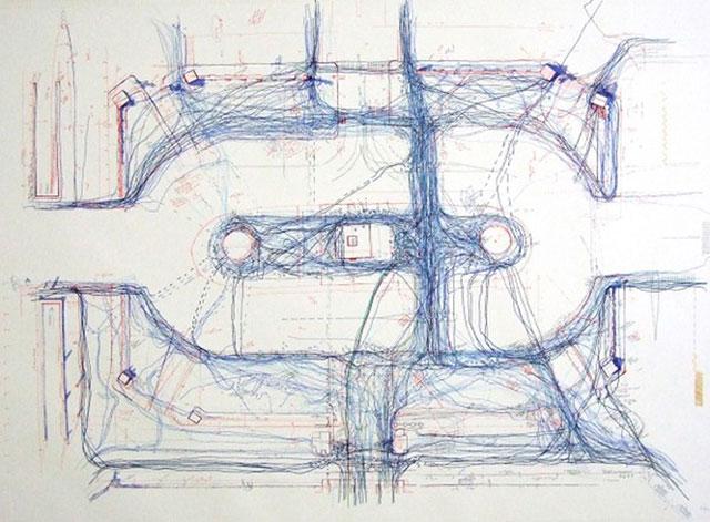 Now here, Place de la Concorde V, 2013 de Larissa Fassler en 'La elipsis arquitectónica' en el Centro Cultural Universitario Tlatelolco