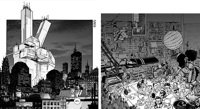 Klaus, caricaturizándose junto al resto de colaboradores del número en el índice de contenidos de PRAXIS #14: True Stories (2014).