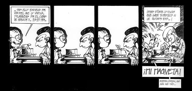 Primera tira de 'El Corbu' (c2004). Publicado en la revista Aequus (2005)