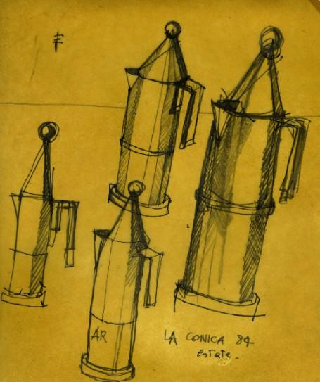 Las cafeteras de Aldo Rossi, 1984 | fondazionealdorossi.org