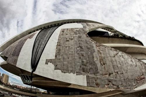Reparación de Palau de les arts,obra de Santiago Calatrava | Foto: José Cuellar para El Mundo