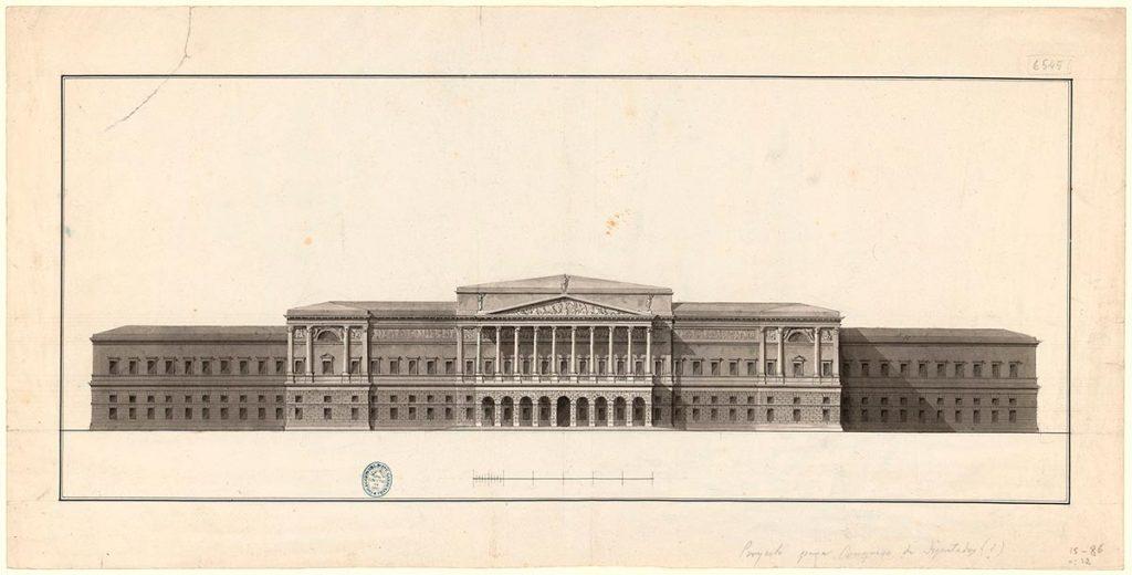 Proyecto de edificio monumental (ca.1800-1830)